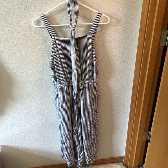 Old Navy Other Striped Jumpsuit Blue And White M Poshmark